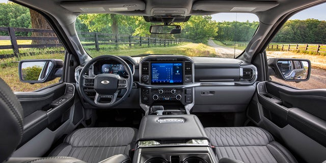 The cabin is completely redesigned with more comfort, technology and functionality for truck customers along with more premium materials, more color choices and more storage. Shown here is the interior of the all-new F-150 Limited.