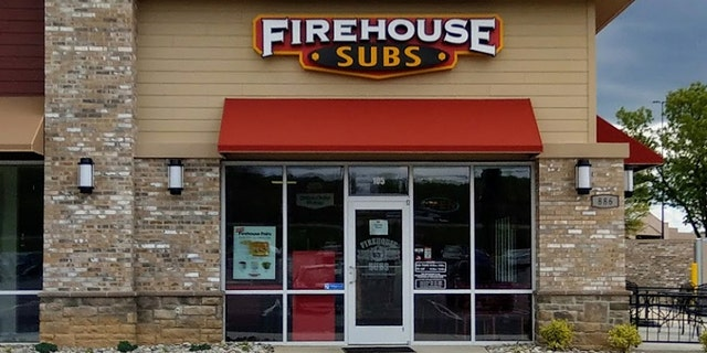 Firehouse Subs confirmed to Fox News that the chain's Martinsburg location, pictured, recently dismissed the employee who wrote the offensive phrase.