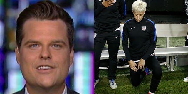 U.S. Rep. Matt Gaetz, R-Fla., would prefer that U.S. national soccer team players like Megan Rapinoe stand instead of kneel during the playing of the national anthem.
