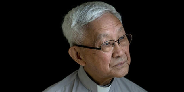 Joseph Zen, a retired cardinal of the Holy Roman Church, poses for a photograph in Hong Kong, China in 2018. Zen -- the retired but still outspoken former archbishop of Hong Kong – recently criticized the Vatican for its silence regarding China's efforts to exert more control over the semi-autonomous territory. (Paul Yeung/Bloomberg via Getty Images)