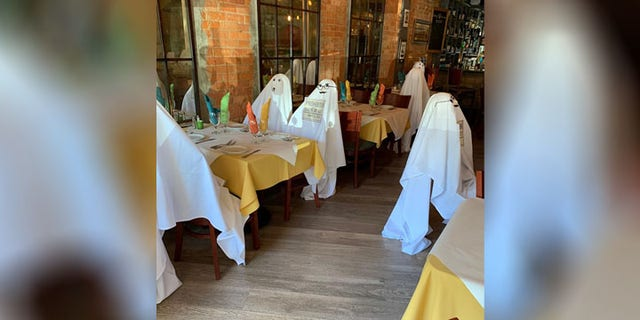 While the restaurant could have just removed tables to keep customers apart, Cutraro wasn't a fan of that idea because it left the restaurant looking too empty.
