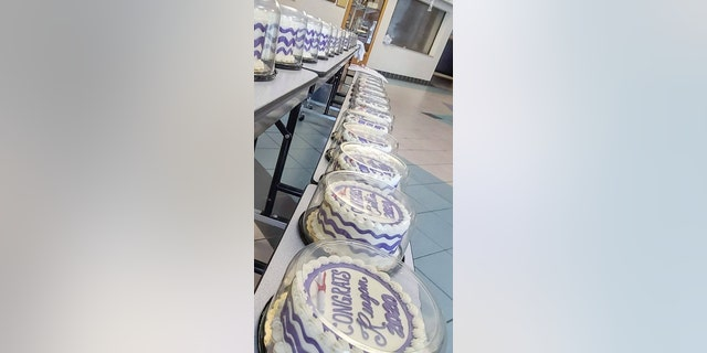 To date, Hanisch Bakery has produced more than 800 free, frosted cakes for 2020 grads at 12 schools.