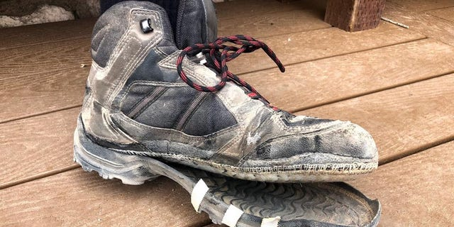 """""""Grand Canyon is an unforgiving environment,"""" the NPS tweeted on Monday, sharing a photo of a well-worn hiking boot that had separated from its sole."""