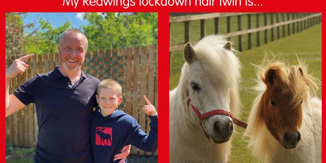 """Horse lovers have come up with a fun challenge by asking people to send in photos of their lockdown haircuts - and matching them with a """"lookalike."""""""