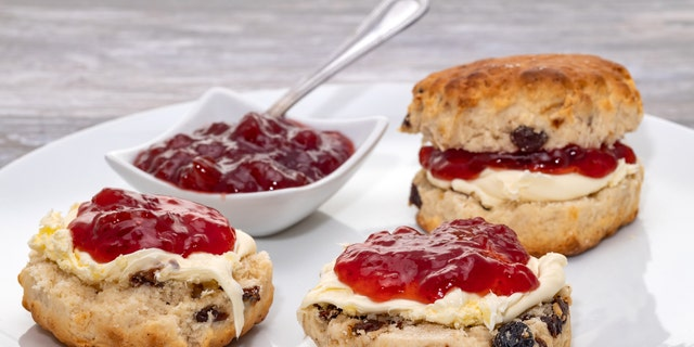 According to a recipe shared by The Royal Family's official Instagram, the scones –which are a summer tradition at Buckingham Palace –are traditionally served with clotted cream and a jam of your choice (and surprisingly no fresh fruit).