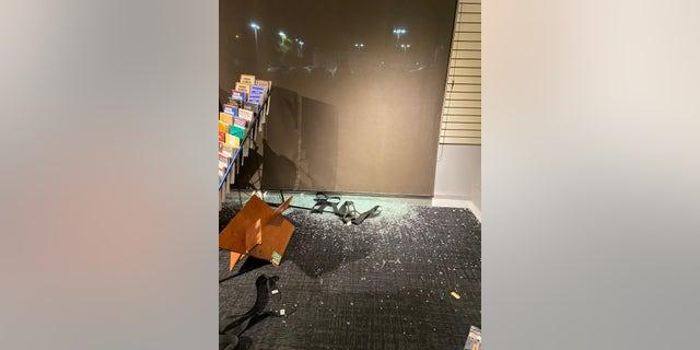 Destruction to the Santa Monica Music Center after Sunday's riots
