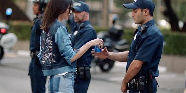 Kendall Jenner stars in the 'Jump In' Pepsi commercial that was pulled from TV in 2017.