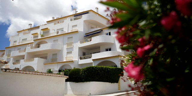 A view of the block of apartments from where British girl Madeleine McCann disappeared in 2007, in Praia da Luz, in Portugal's Algarve coast, Thursday, June 4, 2020.