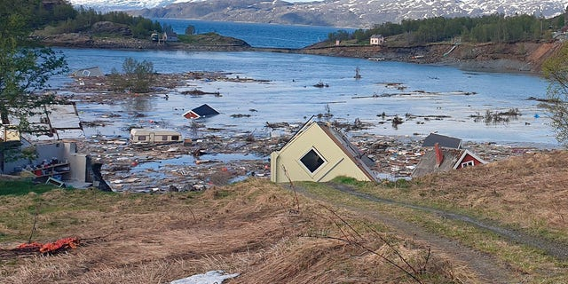Norway landslide sweeps 8 houses into sea, dog swims to safety ...