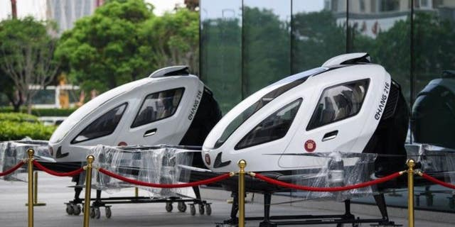 The eHang passenger drone can be seen above. (Getty Images)