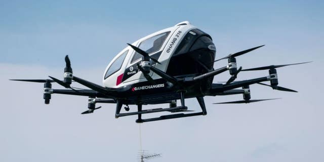 A passenger drone was unveiled in China this week. (Joe Klamar/AFP via Getty Images)
