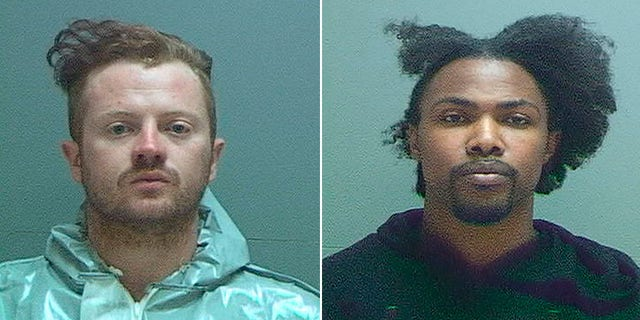 Patton, left, and Newbins both face federal charges in the destruction of the police vehicle.