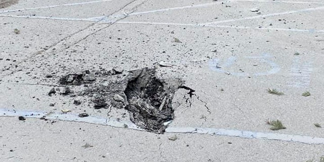 Damage after a magnitude 5.8 earthquake on Wednesday in California triggered a rockslide at Whitney Portal in California.