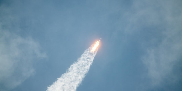 SpaceX's Falcon 9 rocket climbs into orbit May 30 from the Kennedy Space Center. Credit: SpaceX