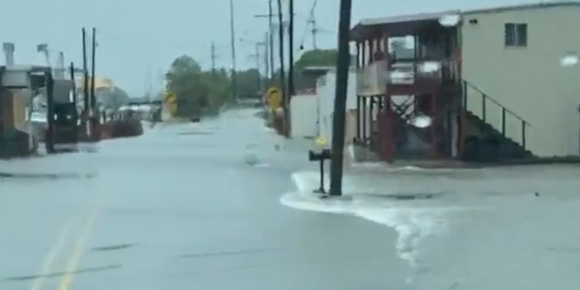 Storm surge from Tropical Storm Cristobal caused flooding along the Gulf Coast on Sunday.
