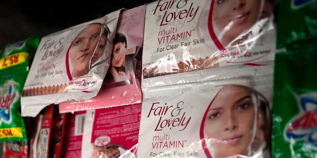 In this file photo, Fair & Lovely beauty products are displayed for sale at a store in Mumbai, India.