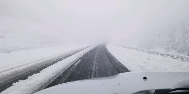 Westlake Legal Group wyoroad-1 June snowstorm brings over foot of snow in Colorado, Wyoming as highways close Travis Fedschun fox-news/weather fox-news/us/us-regions/west/wyoming fox-news/us/us-regions/west/utah fox-news/us/us-regions/west/colorado fox-news/us/us-regions/west fox-news/us/disasters/disaster-response fox-news/us/disasters fox news fnc/us fnc b1429ce1-0692-51cd-8e71-058b20bbf46d article