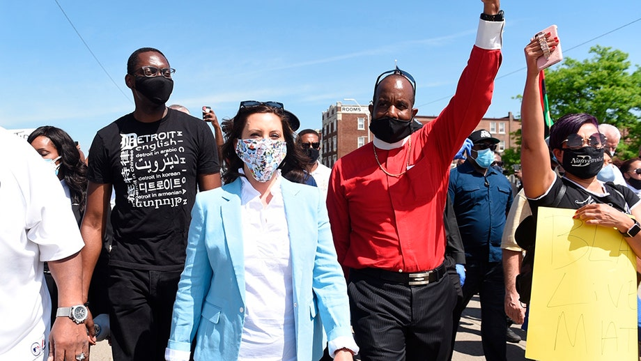 Whitmer blasted by GOP rep for marching amid coronavirus: 'Social distancing is critical… unless you have a great photo op'