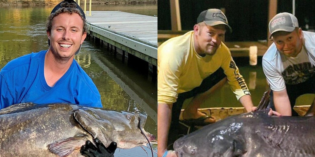 2 fishermen in North Carolina hook record-breaking catfish days apart