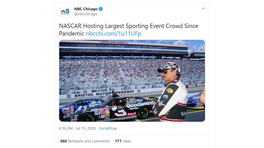 NBC station deletes tweet featuring Dale Earnhardt Sr. after NASCAR fans complain