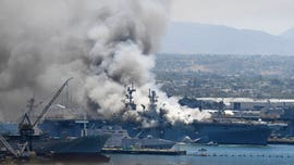 11 injured after explosion and fire breaks out on USS Bonhomme Richard at Naval Base San Diego