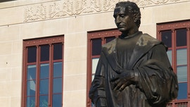 Christopher Columbus statue dismantled at Columbus City Hall