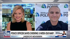 Michigan police officer saves choking 3-week-old baby: 'It was just another day on the job'