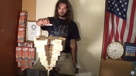 Arizona man stacks 485 Jenga blocks atop a single piece