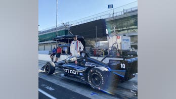NASCAR's Jimmie Johnson tests IndyCar at Indianapolis Motor Speedway