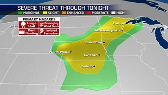 Severe weather possible across Midwest as wildfire threat simmers out West