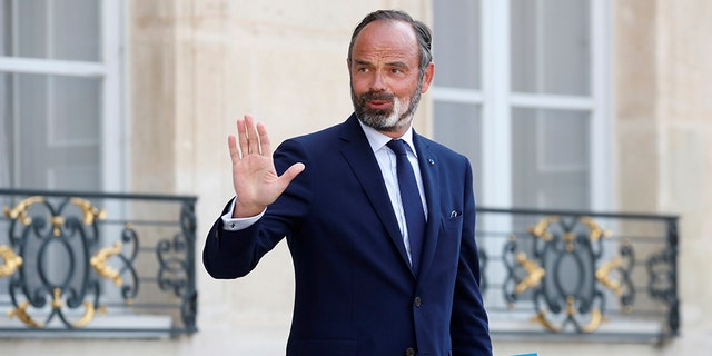 ​​​​​​​French Prime Minister Edouard Philippe leaves after a meeting at the Elysee Palace in Paris, June 3, 2020. (Associated Press)