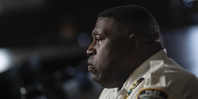 Chief Jeffrey Maddrey is photographed outside the Brooklyn North Patrol Borough in the Brooklyn borough of New York in June 2020. (AP Photo/Wong Maye-E, File)