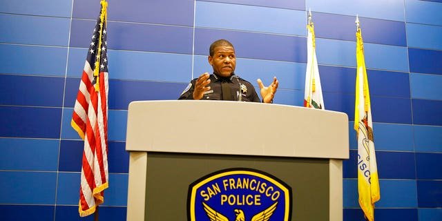 US News In this May 21, 2019, file photo, San Francisco Police Chief William Scott answers questions during a news conference in San Francisco. The San Francisco Police Department will stop releasing mugshots of people arrested unless they pose a threat in an effort to stop perpetuating racial stereotypes, the police chief announced Wednesday, July 1, 2020.