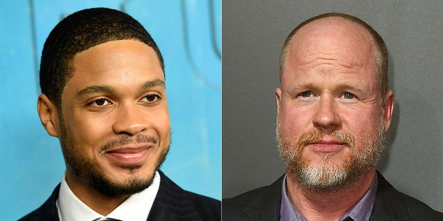 Ray Fisher (L) and Joss Whedon (R)