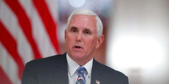"""Vice President Mike Pence speaks during a """"National Dialogue on Safely Reopening America's Schools,"""" event in the East Room of the White House, Tuesday, July 7, 2020, in Washington. (AP Photo/Alex Brandon)"""