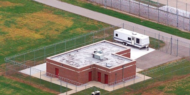 FILE: In this June 11, 2001 file photo, an aerial view of the execution facility at the United States Penitentiary in Terre Haute, Ind., is shown.