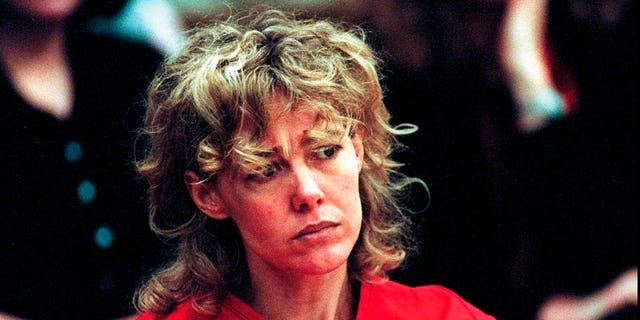 FILE - In this Feb. 6, 1998, file photo, Mary Kay Letourneau listens to testimony during a court hearing in Seattle Letourneau, who married her former sixth-grade student after she was convicted for raping him, has died. (Alan Berner/The Seattle Times via AP, Pool, File)
