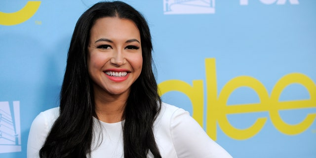 FILE - Naya Rivera, a cast member in the television series 'Glee,' poses at a screening and Q&A for the show, at the Academy of Television Arts and Sciences in Los Angeles on May 1, 2012.
