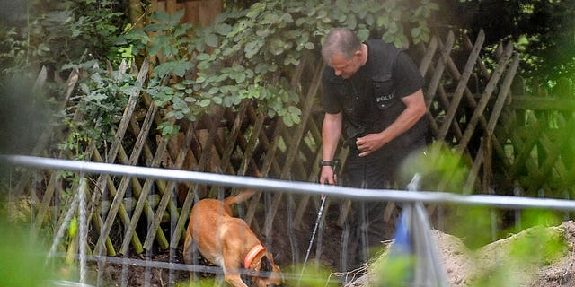 election 2020  Donald Trump  President Trump  Conservative News  RNC Germany police officers search with dogs an allotment garden plot in Seelze, near Hannover, Germany, Wednesday, July 29, 2020. (AP Photo/Martin Meissner)