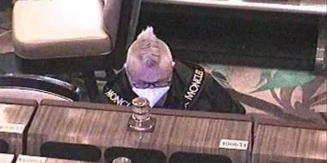Surveillance photo shows the suspect gambling, supposedly with fraudulently obtained funds (US Attorney Central District California/FBI)