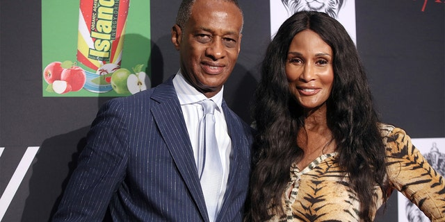 Supermodel Beverly Johnson and W. Brian Maillian attend the 2019 Breaking Barriers Awards Gala & Fashion Show (Photo by Robin L Marshall/Getty Images)