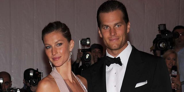 Gisele Bundchen and athlete Tom Brady attend the Metropolitan Museum of Art Costume Institute Gala 'Superheroes: Fashion And Fantasy' at the Metropolitan Museum of Art on May 5, 2008, in New York City. (Photo by Dimitrios Kambouris/WireImage)