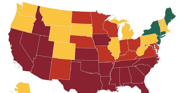 A map created by health experts tracks each state response to the coronavirus based on criteria set by the White House.