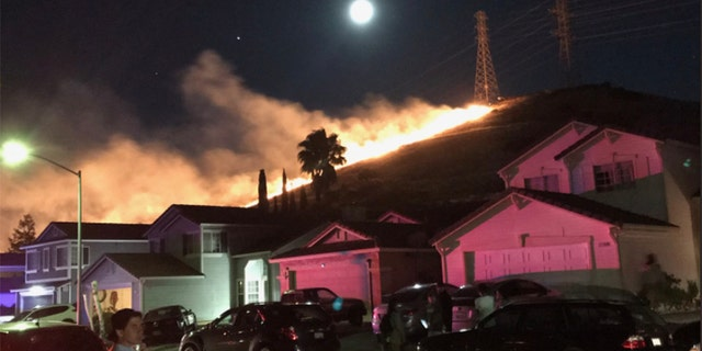 Dozens of structures were threatened by fires in Contra Costa County in Northern California on the Fourth of July as many launched fireworks to celebrate the holiday.