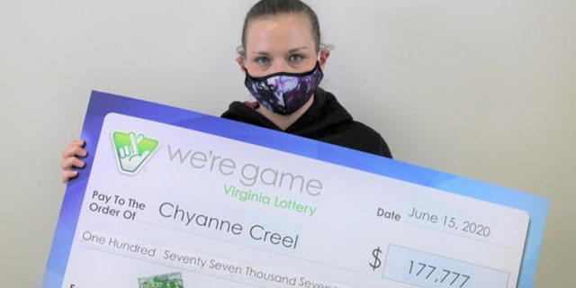 """Chyanne Creel menggambarkan momen itu kepada pejabat Lotere Virginia, mengatakan """"itu sepertinya tidak nyata."""
