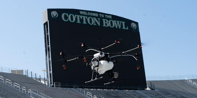 Texas-based drone company partners with Texas-based disinfectant company to fight COVID-19 at large event centers.