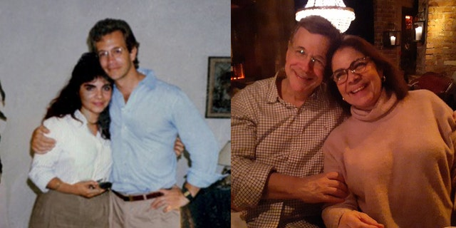 David and MC Asman in 1988 and 2020,