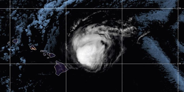 Hurricane Douglas as seen on Sunday, July 26, 2020.