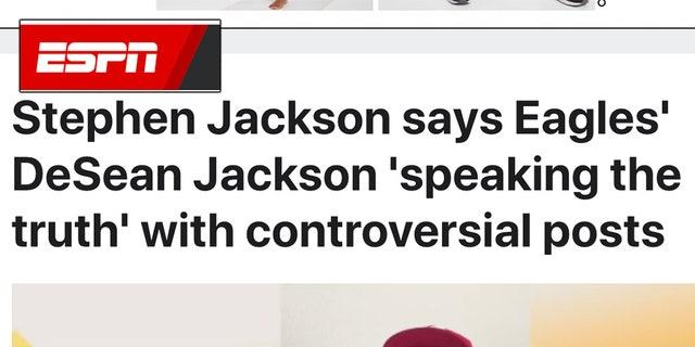 "ESPNwas ridiculed Wednesday forlabeling Philadelphia Eagles widereceiverDeSean Jackon's recentanti-Semitic social mediaposts as simply ""controversial."""