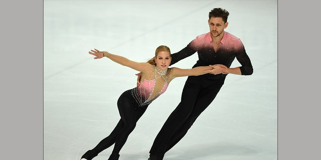 Australia's Ekaterina Alexandrovskaya and Harley Windsor perform during their Pairs short skating program of the 51st Nebelhorn trophy figure skating competition in Oberstdorf, southern Germany, on September 26, 2019. (Getty Images)